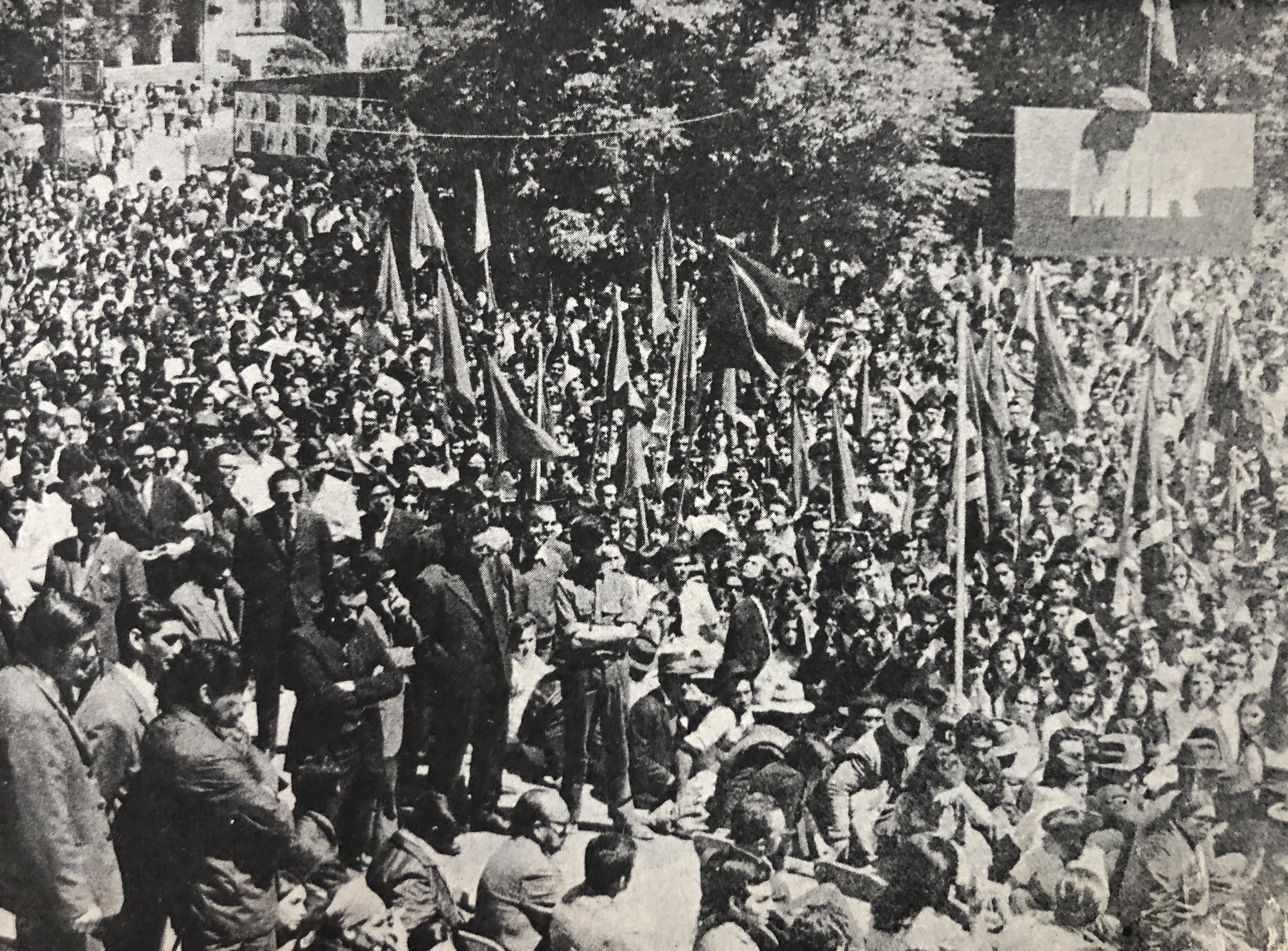 Fidel Castro en Concepción, 1971